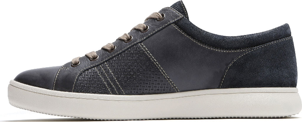 Men's Rockport Colle Tie Sneaker, Blue/Grey Leather, large, image 3