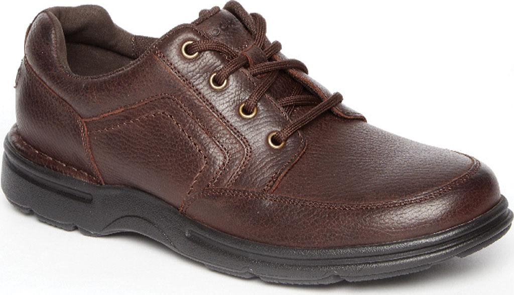Men's Rockport Eureka Plus Mudguard Oxford, Dark Brown Leather, large, image 1