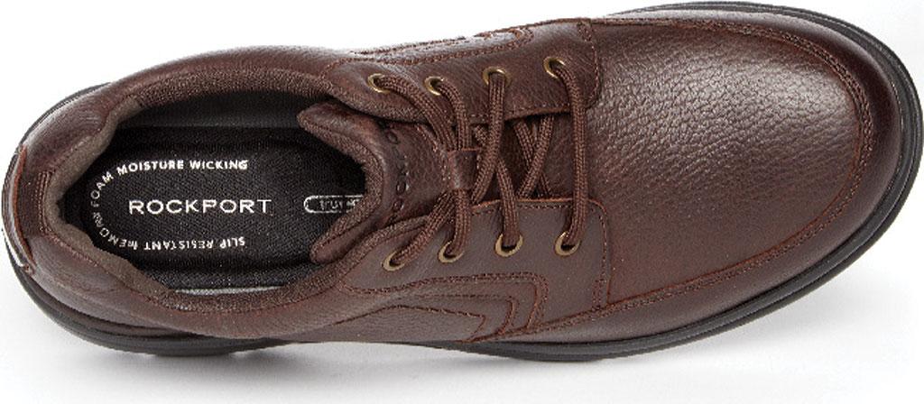 Men's Rockport Eureka Plus Mudguard Oxford, Dark Brown Leather, large, image 4