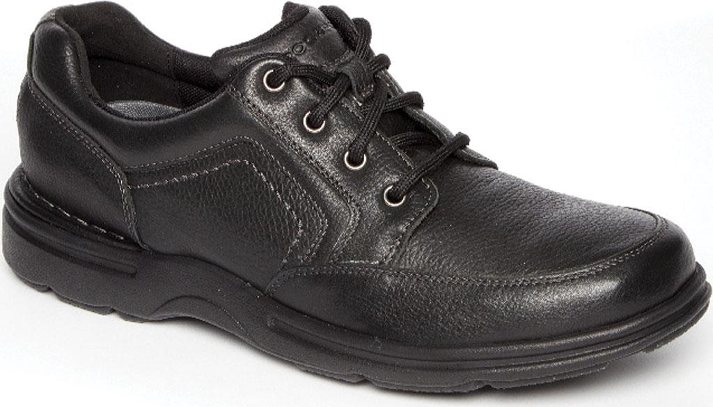 Men's Rockport Eureka Plus Mudguard Oxford, Black Leather, large, image 1
