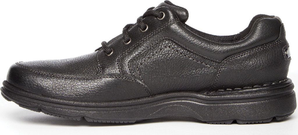 Men's Rockport Eureka Plus Mudguard Oxford, Black Leather, large, image 3