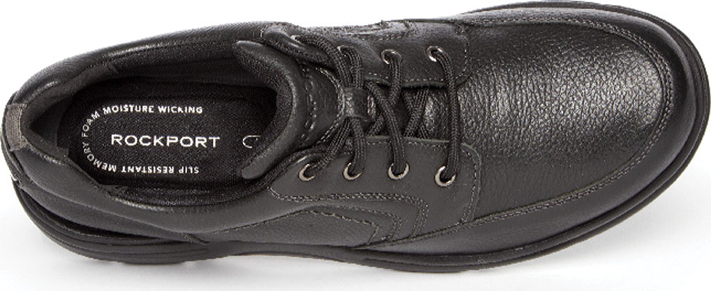 Men's Rockport Eureka Plus Mudguard Oxford, Black Leather, large, image 4