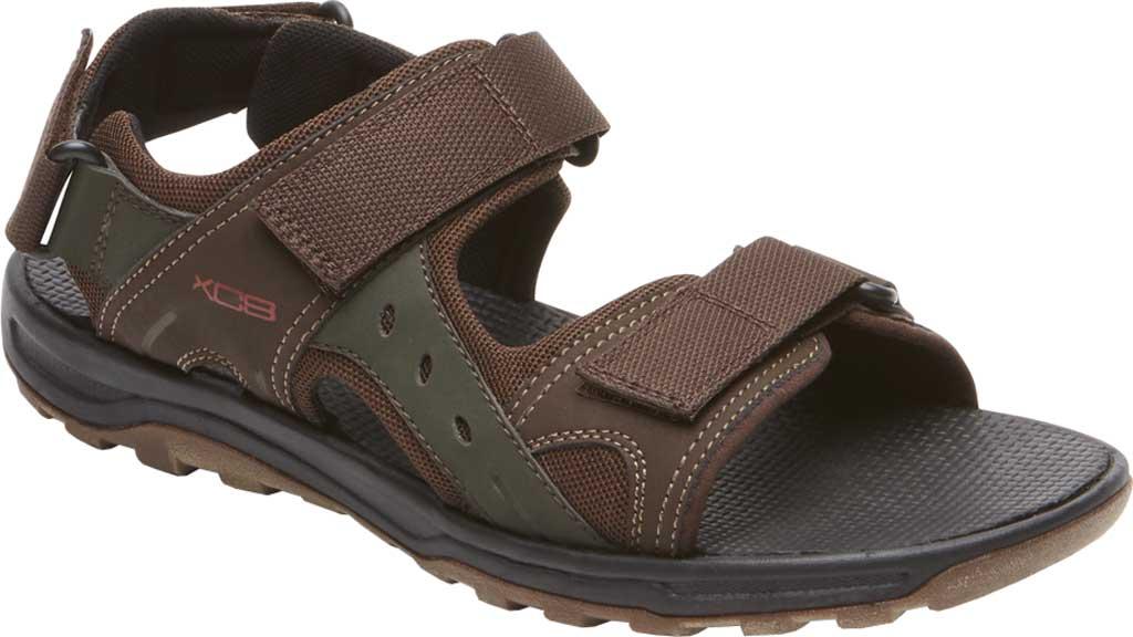 Men's Rockport Trail Technique Adjustable Sandal, Brown Multi Polyurethane/Mesh, large, image 1