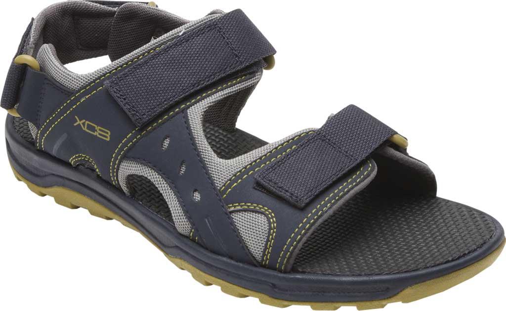 Men's Rockport Trail Technique Adjustable Sandal, Navy Multi Polyurethane/Mesh, large, image 1