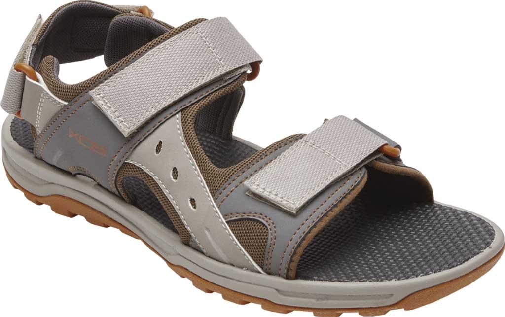 Men's Rockport Trail Technique Adjustable Sandal, Stone Multi Polyurethane/Mesh, large, image 1