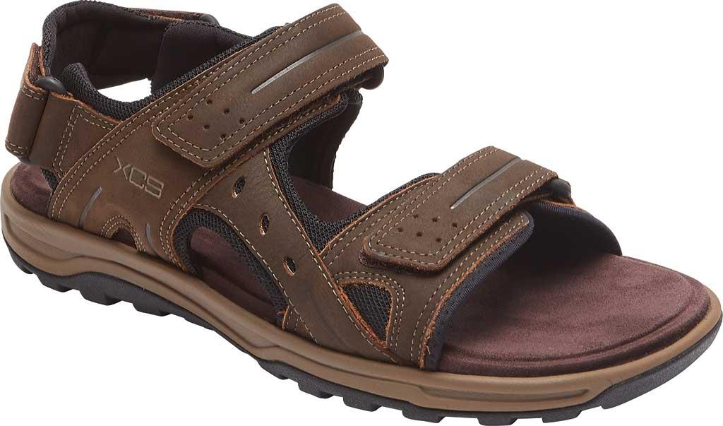 Men's Rockport Trail Technique Adjustable Sandal, Brown Leather, large, image 1