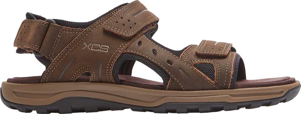 Men's Rockport Trail Technique Adjustable Sandal, Brown Leather, large, image 2