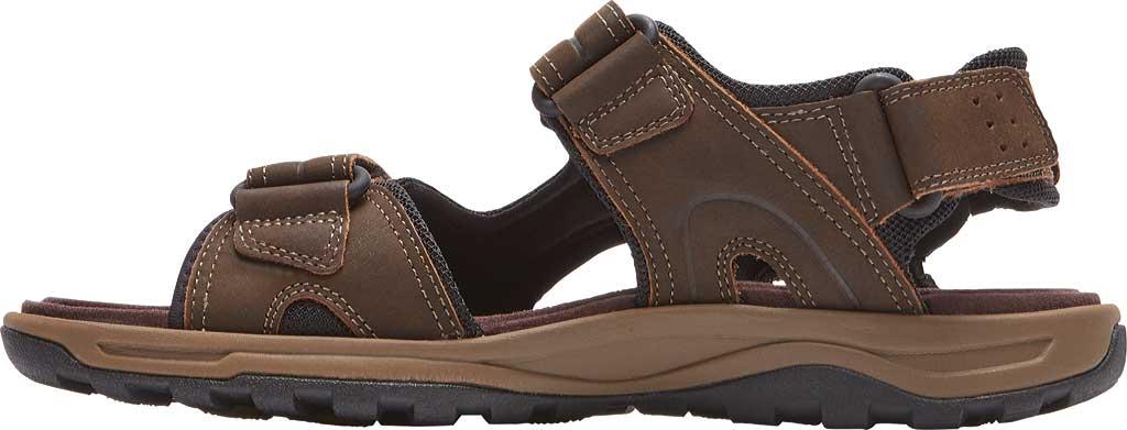 Men's Rockport Trail Technique Adjustable Sandal, Brown Leather, large, image 3