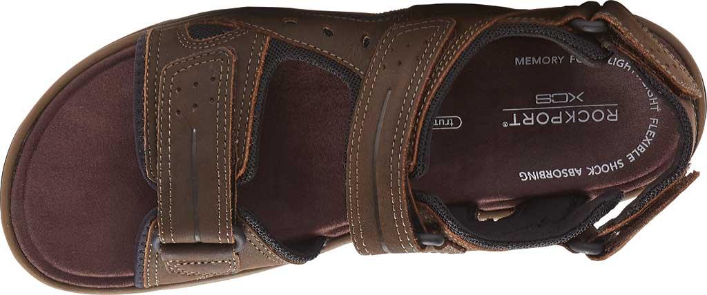 Men's Rockport Trail Technique Adjustable Sandal, Brown Leather, large, image 4