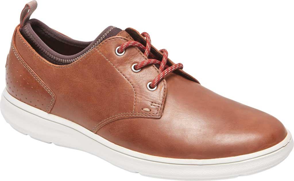 Men's Rockport Zaden Plain Toe Oxford, Boston Tan Leather, large, image 1