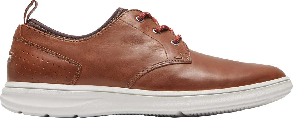 Men's Rockport Zaden Plain Toe Oxford, Boston Tan Leather, large, image 2