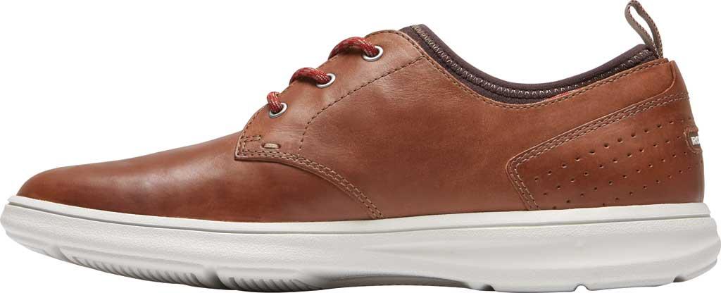 Men's Rockport Zaden Plain Toe Oxford, Boston Tan Leather, large, image 3