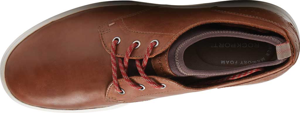 Men's Rockport Zaden Plain Toe Oxford, Boston Tan Leather, large, image 4