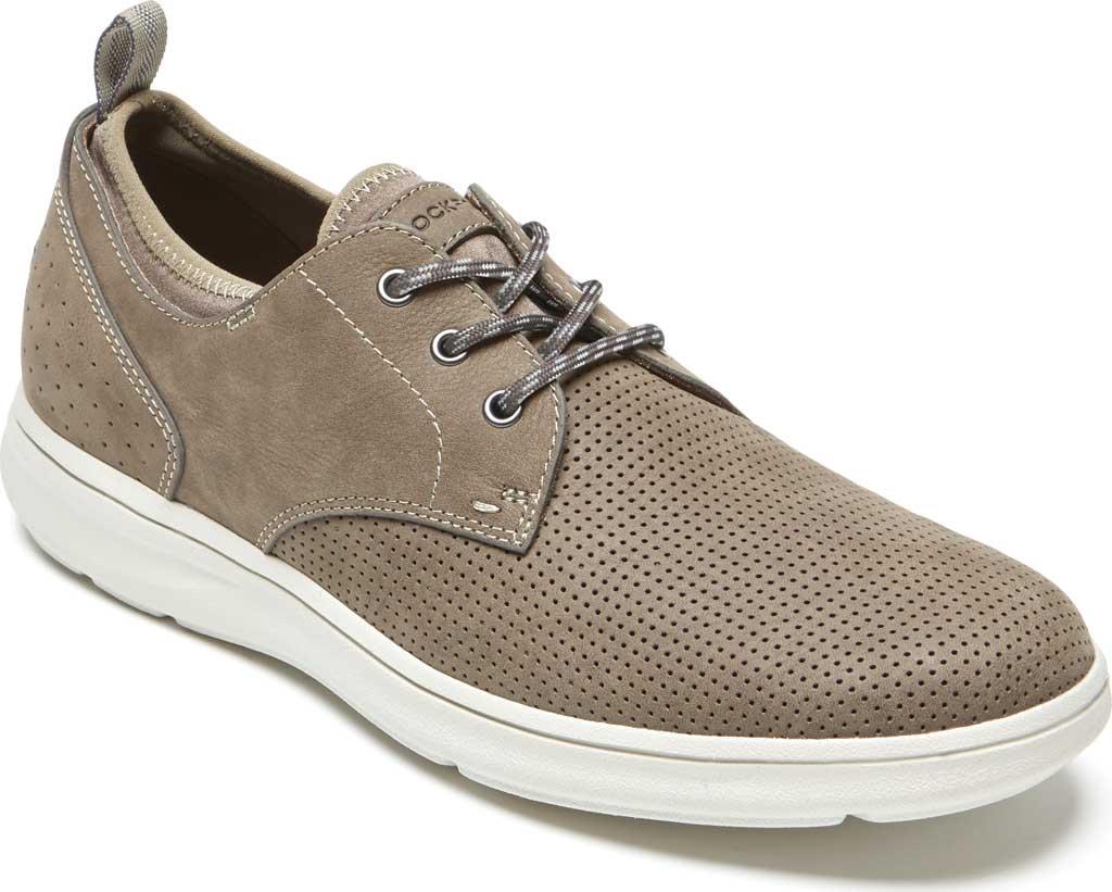 Men's Rockport Zaden Plain Toe Oxford, Breen Perfed Leather, large, image 1