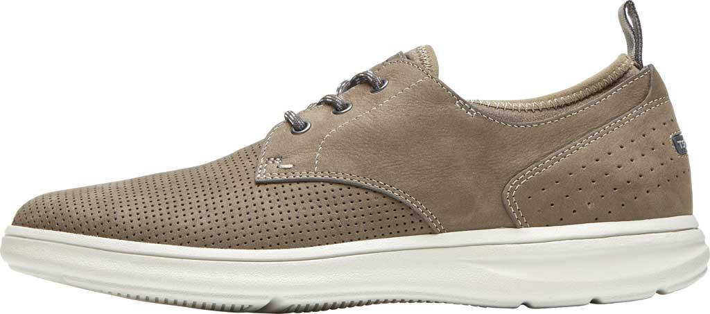 Men's Rockport Zaden Plain Toe Oxford, Breen Perfed Leather, large, image 3