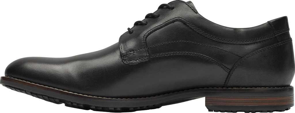 Men's Rockport Dustyn Plain Toe Oxford, Black Leather, large, image 3