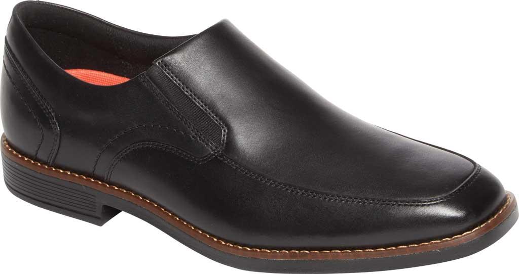 Men's Rockport Slayter Slip On, Black/Black Leather, large, image 1