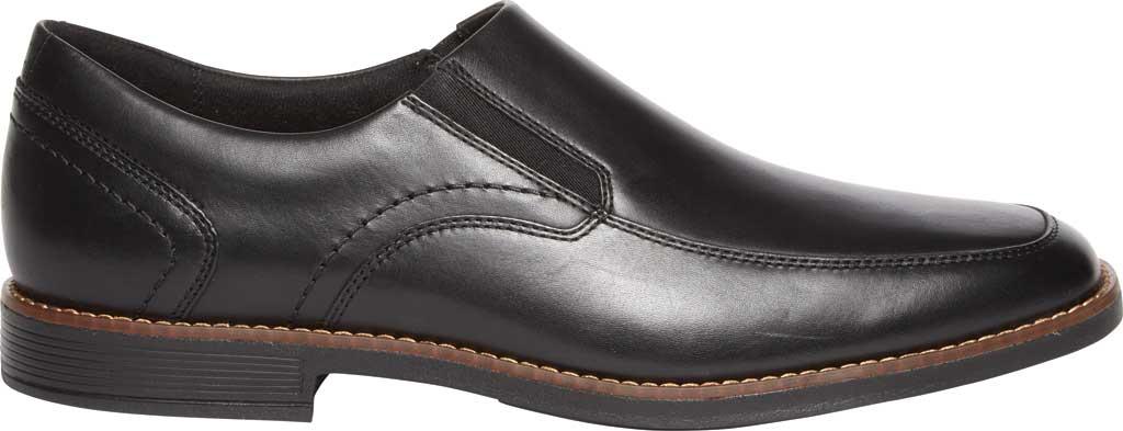Men's Rockport Slayter Slip On, Black/Black Leather, large, image 2