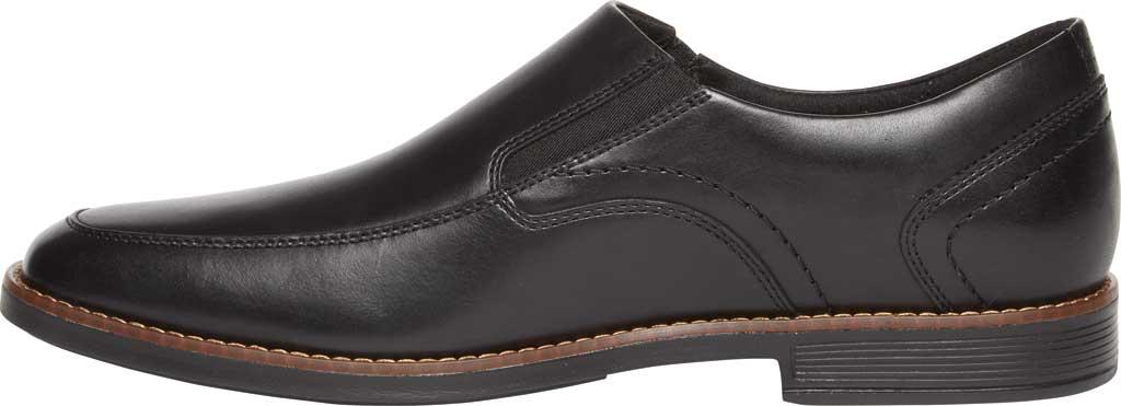Men's Rockport Slayter Slip On, Black/Black Leather, large, image 3
