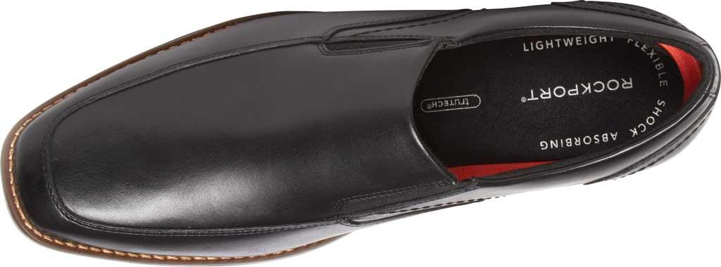Men's Rockport Slayter Slip On, Black/Black Leather, large, image 4
