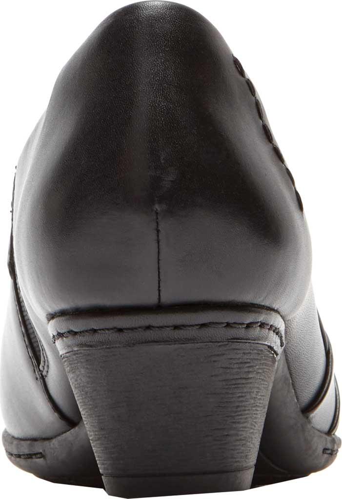Women's Rockport Cobb Hill Abbott Slip On, Black Leather, large, image 3