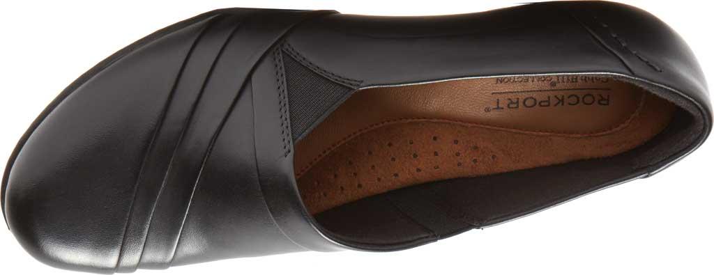 Women's Rockport Cobb Hill Abbott Slip On, Black Leather, large, image 4