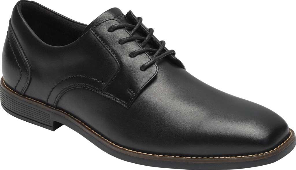 Men's Rockport Slayter Plain Toe Oxford, Black Leather, large, image 1