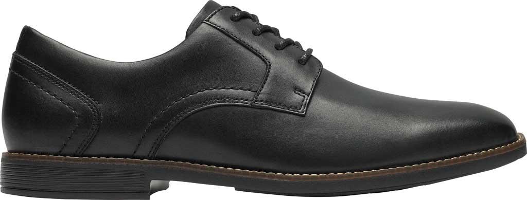 Men's Rockport Slayter Plain Toe Oxford, Black Leather, large, image 2
