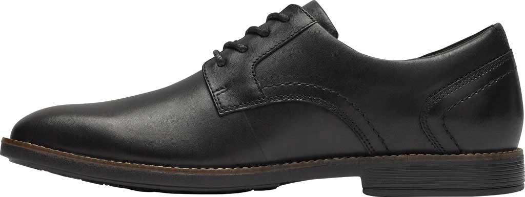 Men's Rockport Slayter Plain Toe Oxford, Black Leather, large, image 3