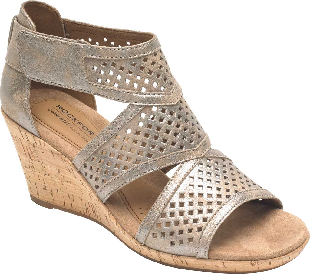 Women's Rockport Cobb Hill Janna Caged Strappy Sandal, , large, image 1