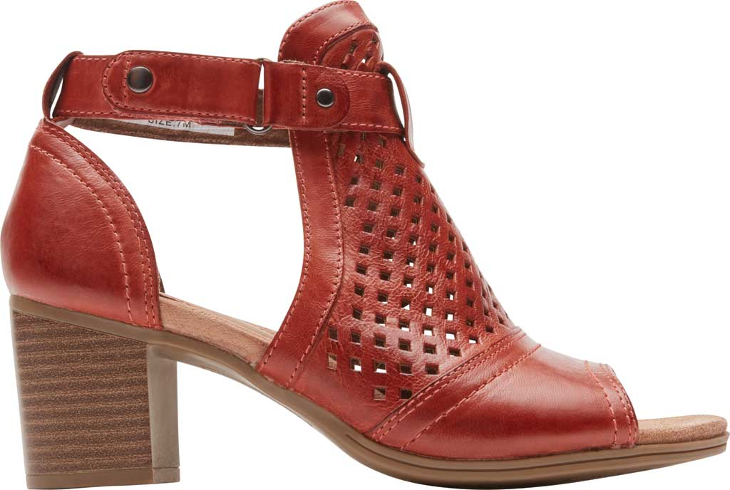 Women's Rockport Cobb Hill Hattie Hi Cuff Bootie, Russet Red Burnished Leather, large, image 2