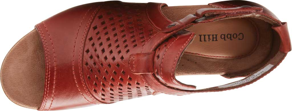 Women's Rockport Cobb Hill Hattie Hi Cuff Bootie, Russet Red Burnished Leather, large, image 4