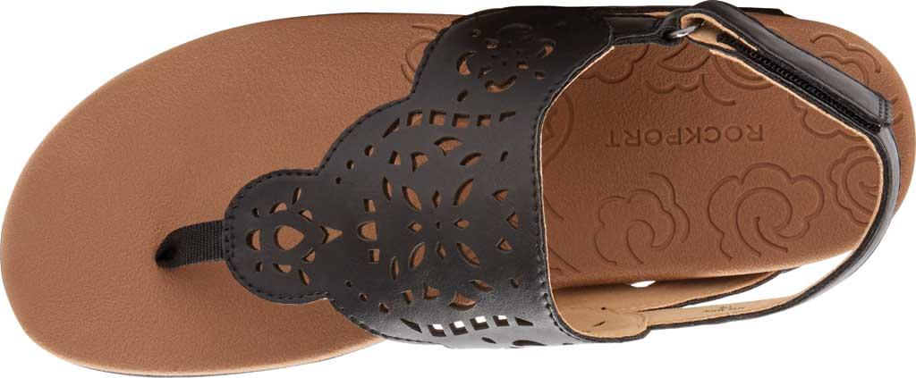 Women's Rockport Ridge Circle Thong Slingback, Black Leather, large, image 4