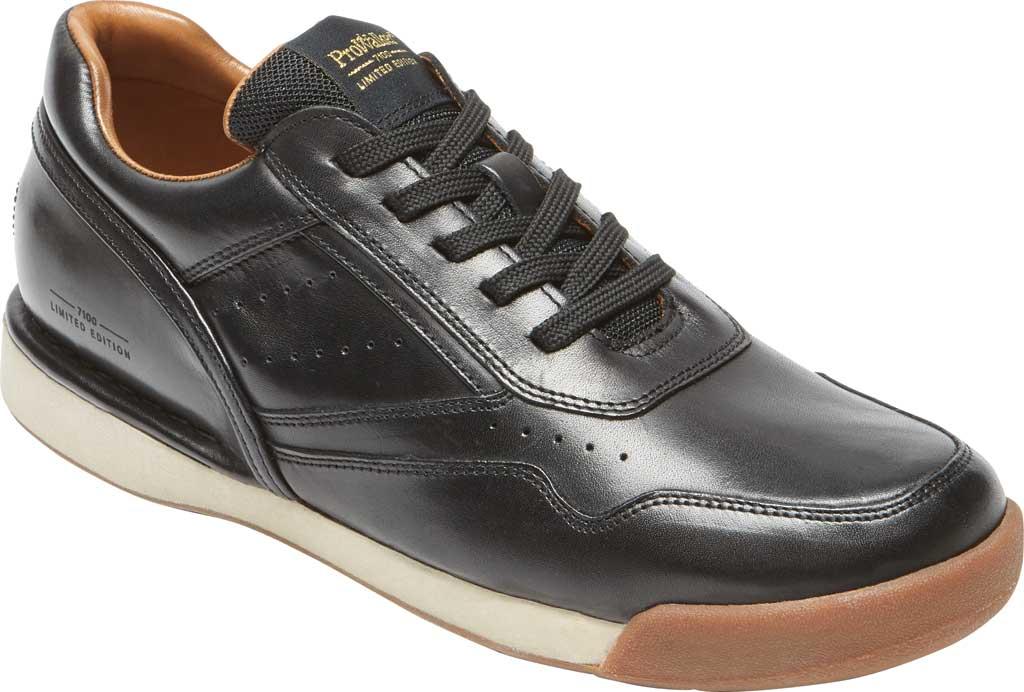 Men's Rockport ProWalker 7100 LTD Sneaker, Black Burnished Leather, large, image 1