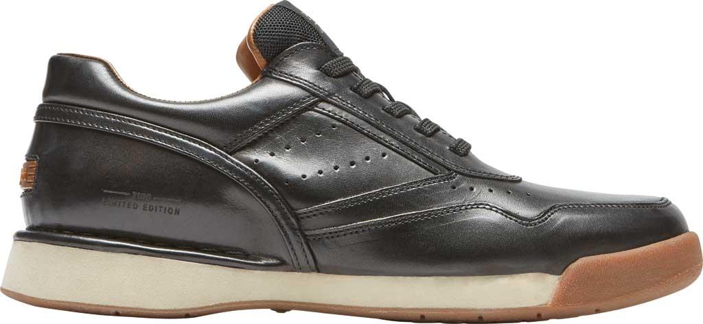 Men's Rockport ProWalker 7100 LTD Sneaker, Black Burnished Leather, large, image 2