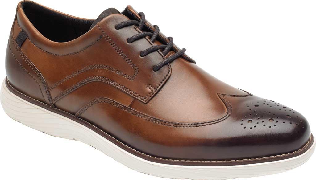 Men's Rockport Garett Wing Tip, Cognac Leather, large, image 1