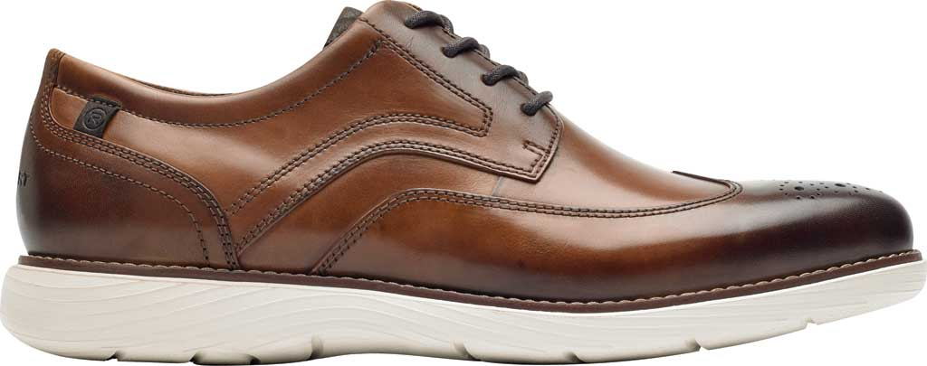 Men's Rockport Garett Wing Tip, Cognac Leather, large, image 2