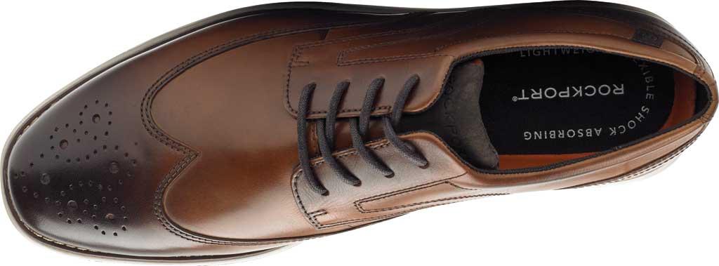 Men's Rockport Garett Wing Tip, Cognac Leather, large, image 4