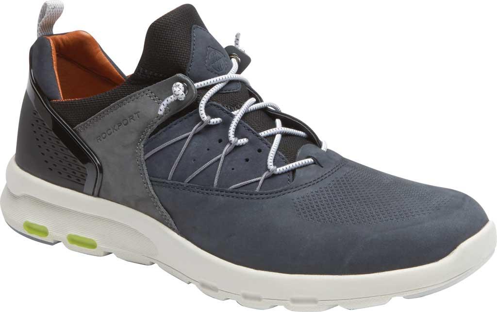 Men's Rockport Let's Walk Bungee Sneaker, Blue Nubuck, large, image 1