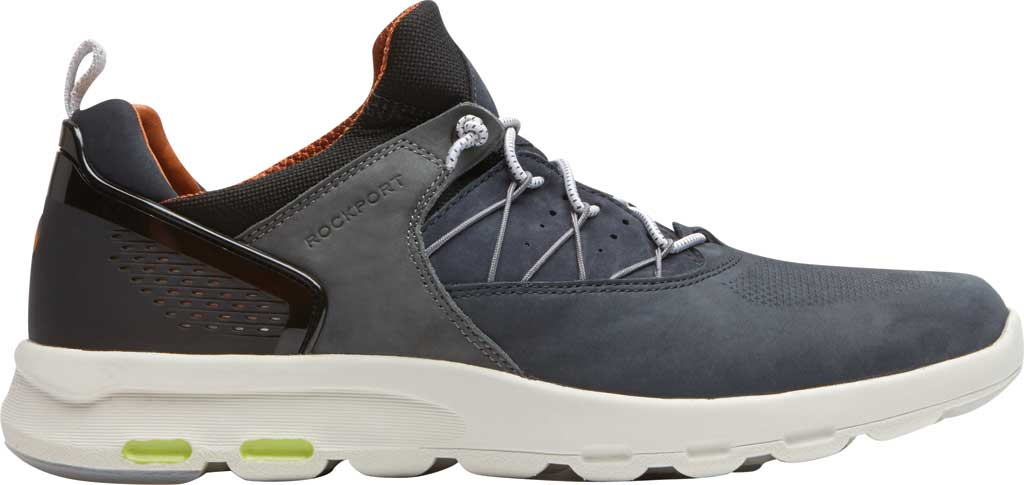 Men's Rockport Let's Walk Bungee Sneaker, Blue Nubuck, large, image 2