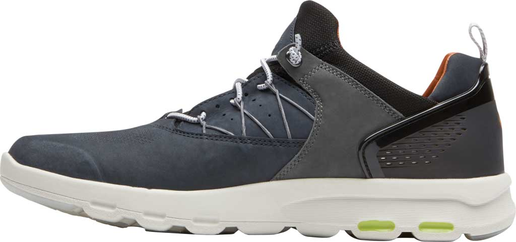 Men's Rockport Let's Walk Bungee Sneaker, Blue Nubuck, large, image 3