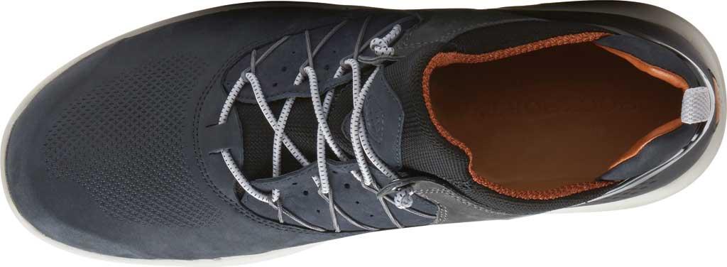 Men's Rockport Let's Walk Bungee Sneaker, Blue Nubuck, large, image 4