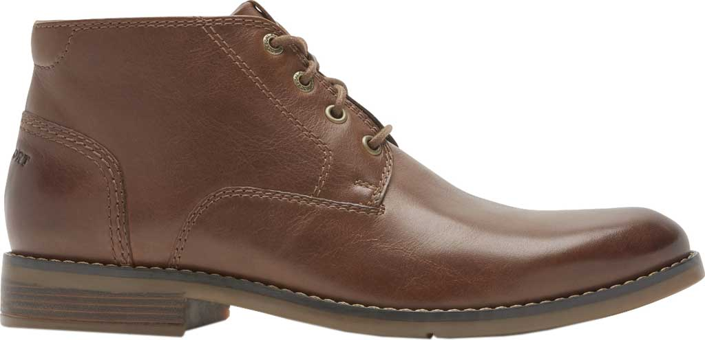 Men's Rockport Colden Chukka Boot, Dark Tan Antiqued Leather, large, image 2