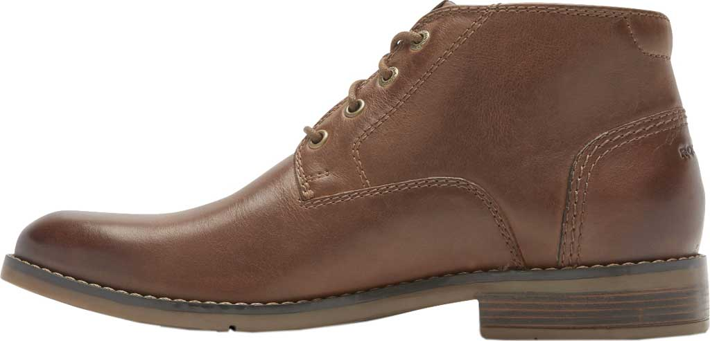 Men's Rockport Colden Chukka Boot, Dark Tan Antiqued Leather, large, image 3
