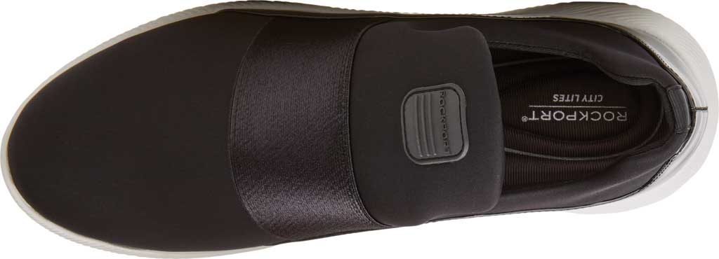 Women's Rockport City Lites Robyne Slip On Sneaker, Black Textile, large, image 4