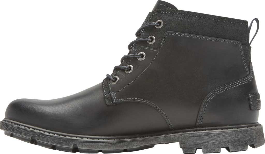 Men's Rockport Rugged Bucks II Chukka Boot, Black Waterproof Leather/Suede, large, image 3