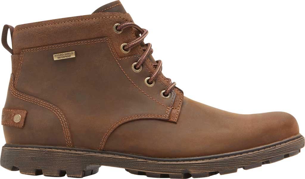 Men's Rockport Rugged Bucks II Chukka Boot, Boston Tan Waterproof Leather/Suede, large, image 2
