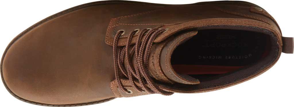 Men's Rockport Rugged Bucks II Chukka Boot, Boston Tan Waterproof Leather/Suede, large, image 4