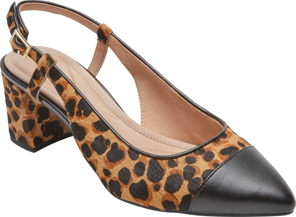 Women's Rockport Total Motion Salima Posted Slingback, Leopard Calf Hair, large, image 1