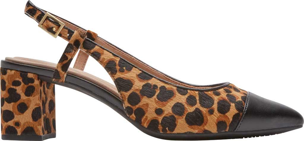 Women's Rockport Total Motion Salima Posted Slingback, Leopard Calf Hair, large, image 2